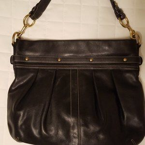 Coach Bags - Coach Pleated Hobo Bag Black Leather H05S-8B15